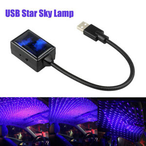 USB Car Auto Interior Atmosphere Starry Lamp Ambient Star Light LED Projector