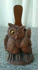 Vintage Wooden Owl Shaped Brush Stand
