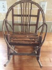 Whimsical vintage twig doll rocking chair