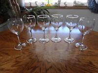Crystal Wine Rib Paneled - Set of 6 Glasses