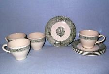 Royal China USA RYL112 Ranch 4 Coupe Cup & Saucer Sets Farmstead Colonial