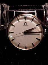 NEAR MINT 1957 OMEGA CAL. 420 14K GOLD 17J MENS WRISTWATCH BUY IT NOW OR OFFER