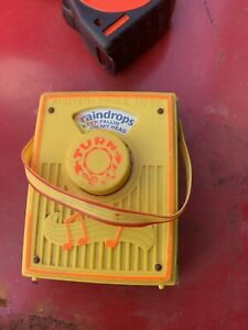 Vintage fisher price music box pocket radio