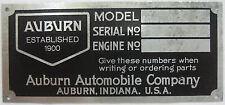 Auburn VIN Body ID # Tag 1930 1931 1932 1933 1934 1935 1936 851 852 Speedster