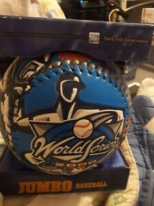 "2000 World Series 9"" Jumbo Fotoball Commemorative Baseball Subway Series"