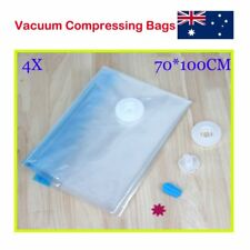 4X Seal Compressing Vacuum Storage Bags or Clothes Blankets Compressed Vac Pack