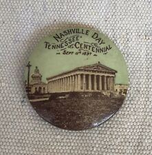 1897 Tennessee Centennial Nashville Day Photo Pinback Button