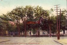 PUBLIC SQUARE SHOWING OLD COURT HOUSE, WILKES-BARRE, PA 1909