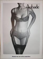 AUBADE S/W Druck Werbung Aufsteller MASTER IN THE ART OF SEDUCTION 53x38 NEU