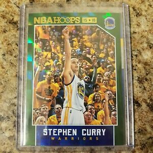 2015-16 STEPHEN CURRY HOOPS GREEN HOLO FOIL #248 SP PARALLEL