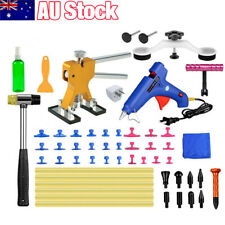 57PCS PDR Paintless Dent Puller Lifter Hail Removal Tools Car Body Kit Glue Gun