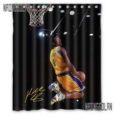 "Waterproof Kobe Bryant Dunk La Lakers Basket Ball Custom Shower Curtain 60x72 """