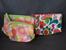"""Clinique Makeup Bags lot of 3 - Floral Pattern 2-9""""x7"""", 1-8x5"""