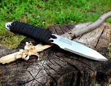 Full Tang Bushcraft Suvavial Knife Fixed Blade Camping Knife Paracord Outdoor