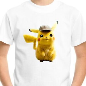 Pokemon Pikachu Kids T-Shirt Printed Children's Birthday Gift Boys Top Tee Cute