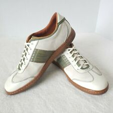 FOSSIL Beige/Green Men Size 10.5 Lace-Up Casual Shoes Oxfords