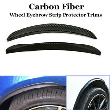 2xCarbon Fiber Style Car Wheel Eyebrow Arch Trim Lips Fender Flares Protector