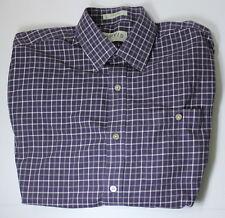 Orvis Men's Large Purple Gingham Long Sleeve Button Down Shirt