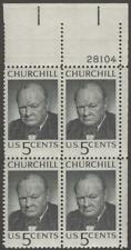 Scott # 1264 - Us Plate Block Of 4 - Winston Churchill - Mnh - 1965