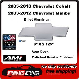 03-12 Chevrolet Malibu Polished Billet Aluminum Bowtie Rear Emblem AMI 96139P