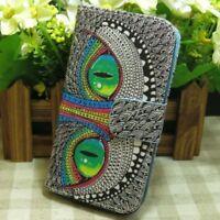 Chien Chat Loup Tigre Housse Etui Coque Wallet Flip case pour Samsung J Series