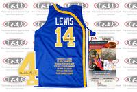 Freddie Lewis Signed ABA (1971-1974) Indiana Style STAT Jersey JSA
