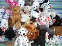 W-F-L Ty Beanie 1 Fabric Dog 5 1/2-7 7/8in Dog Saint Bernard Chihuahua Poodle