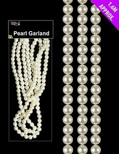"""Pearl Bead Chain Garland Christmas Wedding Party Decoration Gift Craft Decor 62"""""""