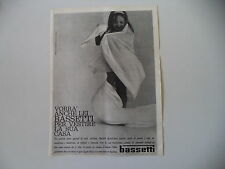 advertising Pubblicità 1963 BASSETTI