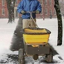 Commercial Walk Behind Spreader 70 Lbs Cap 12 Spread Sand Ice Melting