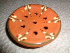 Redware studio art pottery flower frog Greenfield Village Van Benschoten raised