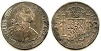 Spain-Carlos IV. 8 Reales 1805. Mexico. Plata 26,4 g. NAUFRAGIO. Rara