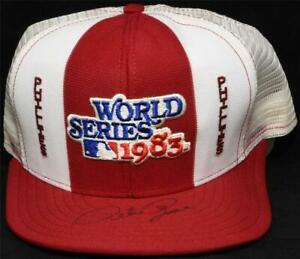 Pete Rose Autographed Signed Hat #2 JSA COA 1983 Phillies World Series Champs