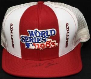 Pete Rose Autographed Signed Hat JSA COA 1983 Phillies World Series Champs