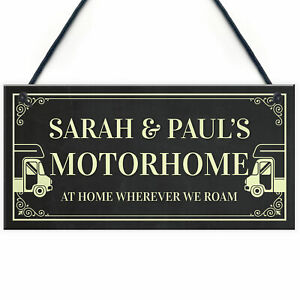 Personalised Motorhome Sign Motorhome Accessories Door Sign Friendship Gift