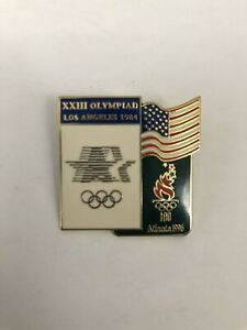 XXIII Olympiad Los Angeles 1984 American Flag Atlanta 1996 Olympics Pin