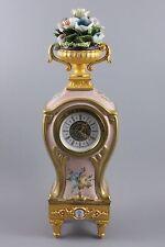 Capodimonte Tiche Porcelain Mantel Clock WorldWide