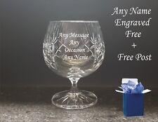 Personalised Engraved Brandy Glass Godfather Best Man Birthday Wedding Xmas Gift