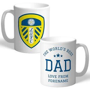 Personalised Leeds United World's Best Dad Mug Football Birthday Gift Fan LUFC