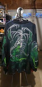 Paintball Junkies Dragon Paintball Jersey XL Green & Black Rare OG Old School