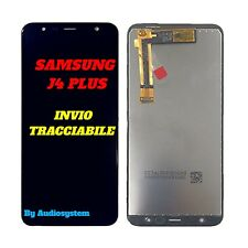 DISPLAY LCD+TOUCH SCREEN per SAMSUNG GALAXY J4+ PLUS SM-J415 NERO VETRO 2018