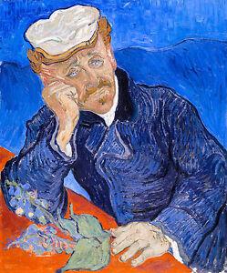 Vincent van Gogh - Dr Paul Gachet, Museum Art Poster, Canvas Print