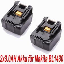 2x 14.4V 3.0AH Akku für Makita BL1430 BL1415 194066-1 194065-3 BDF343 NEU