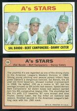 (48457) 1969 Topps 556 A's Stars-Bando-Campaneris-Cater Athletics-EM