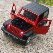 Jeep Wrangler 2014 1:32 Alloy Diecast Car Model Sound&Light Red Collections&Gift