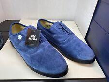 Supra Skateboard Shoes Jim Greco Bering Black Blue Suede US 9.5