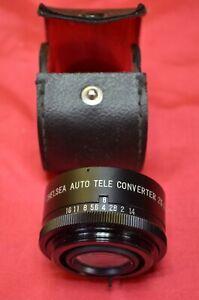Chelsea F Mount Auto Tele Converter 2x Pentax Camera Vintage Lens And Case