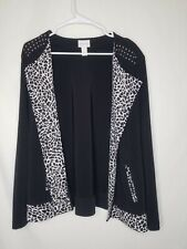 Chicos size 3 Animal Print with Studs cardigan