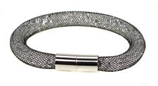 Fiorelli Crystal Mesh Bracelet Ladies Stardust Silver Wrap Magnetic Clasp