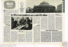 Coupure de presse Clipping 1982 (2 pages) 1974,le scandale du sucre